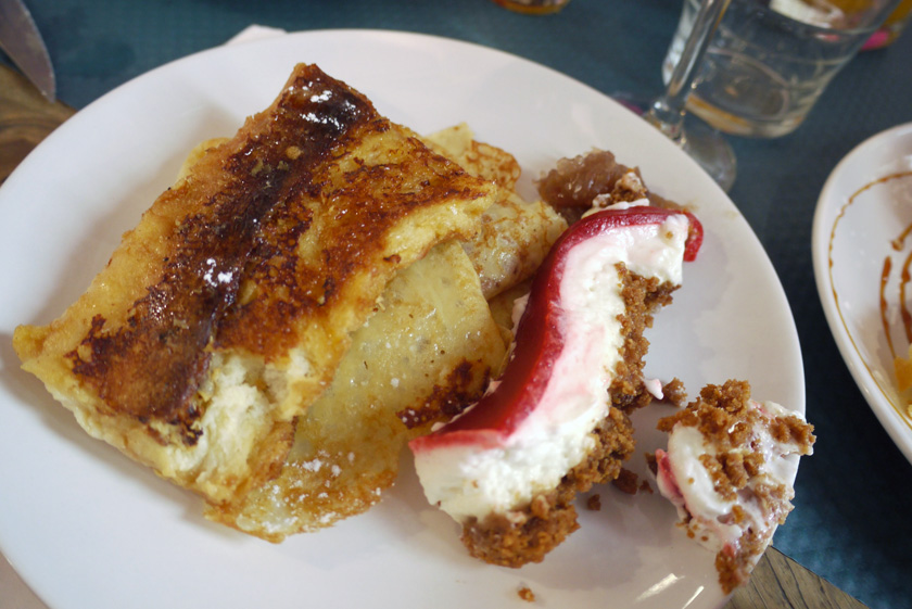 French toast and cheese cake