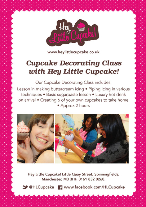 Hey Little Cupcake Decorating class leaflet