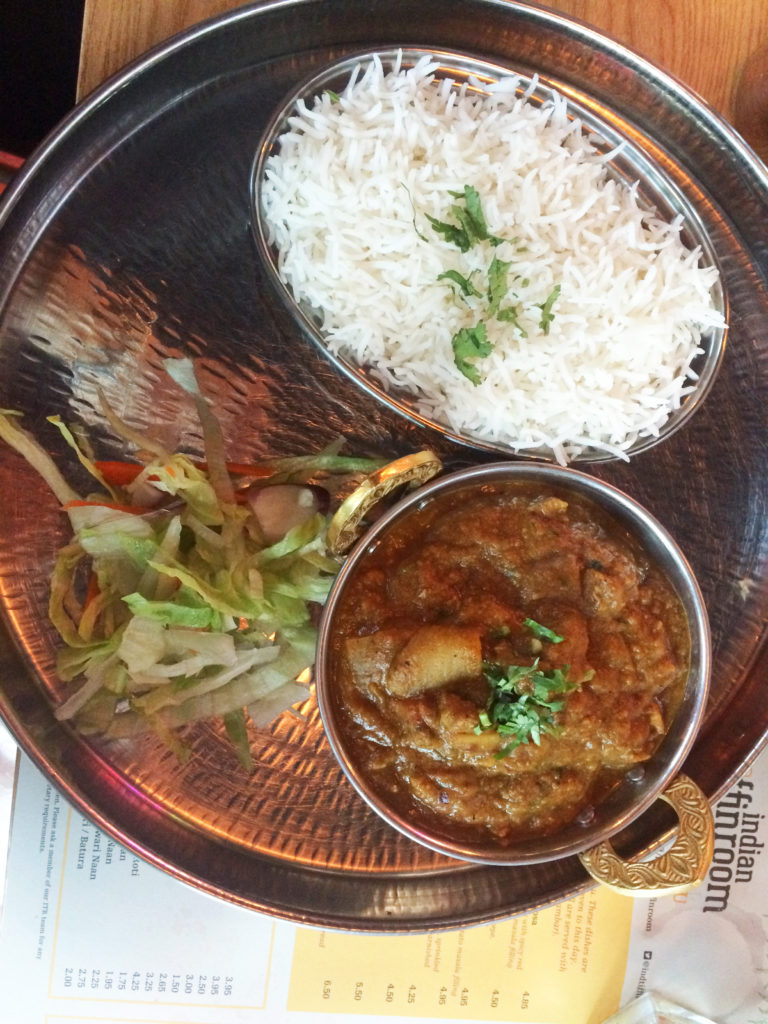 ITR Lamb: Lamb cooked in chef's hand picked ITR spices, served with rice