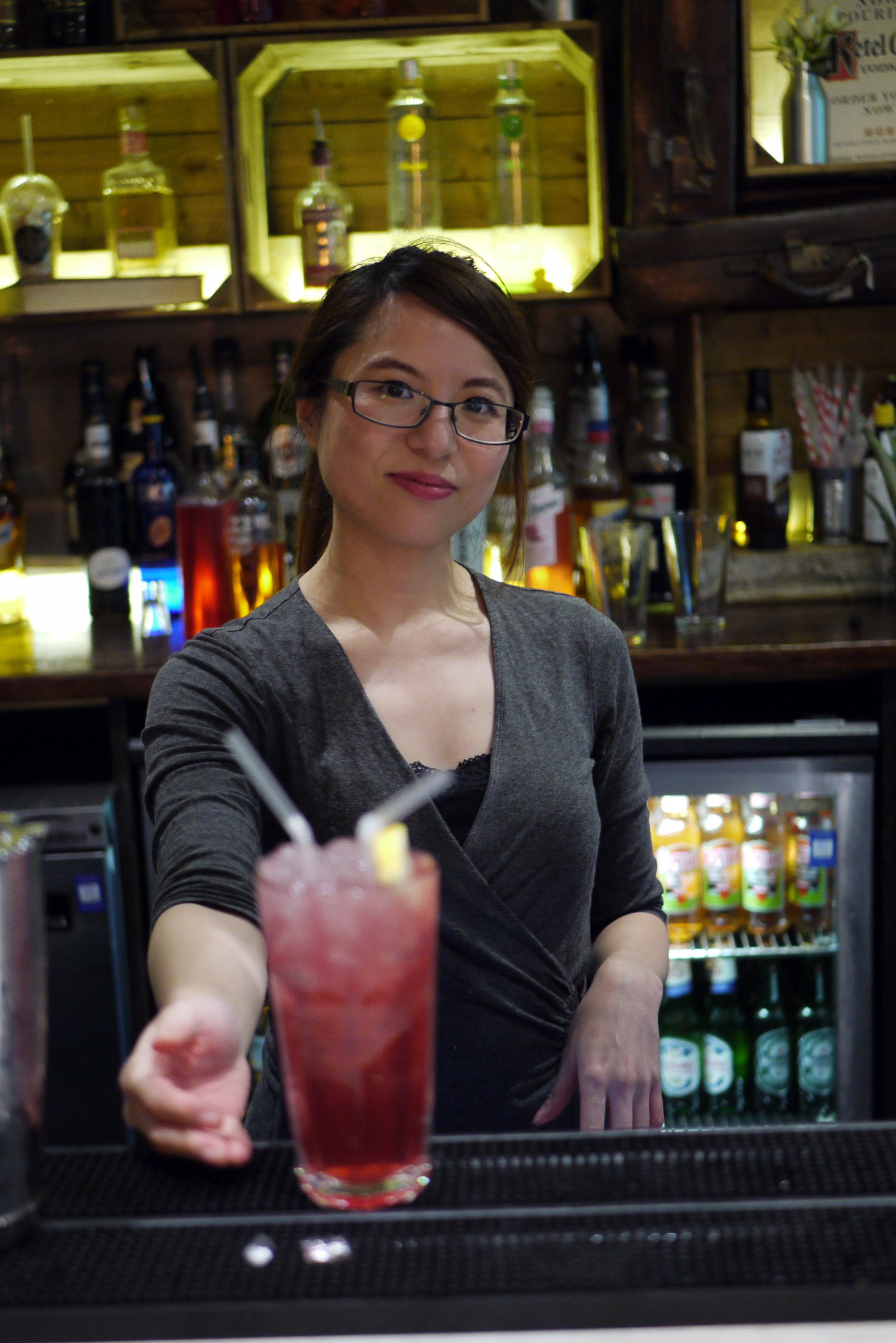 Me with my cocktail challenge