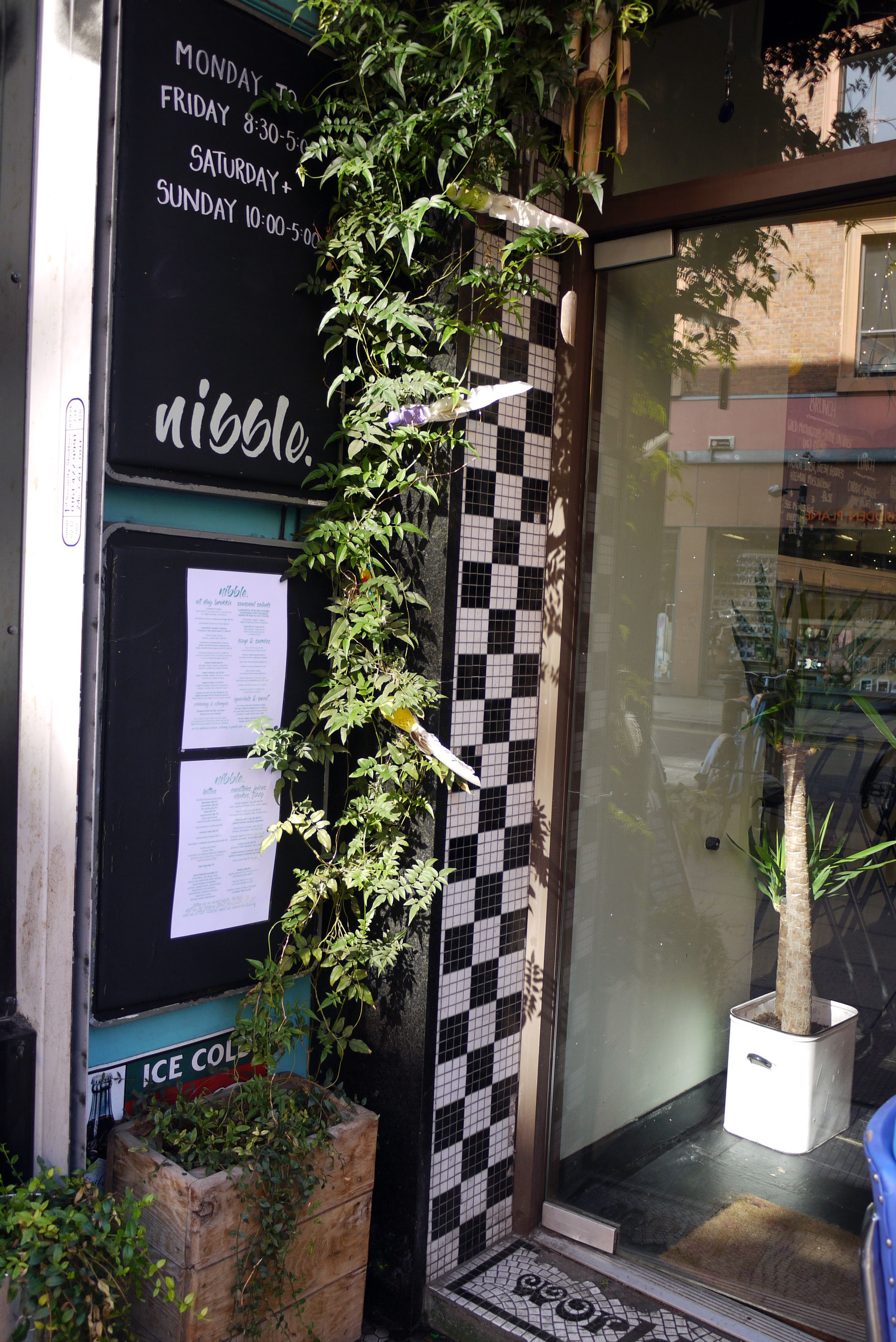 The door leading to Nibble NQ