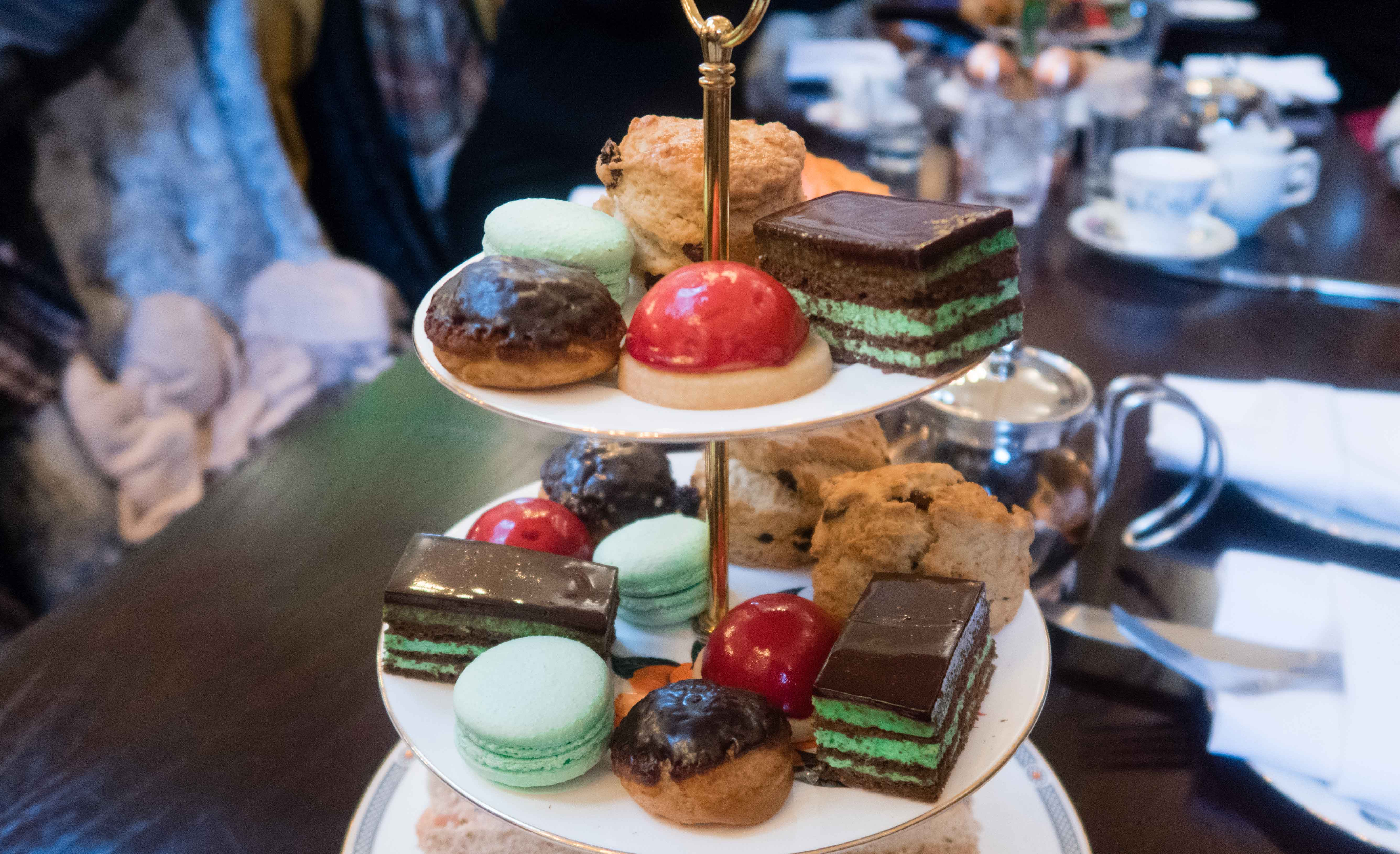 The cakes and scones from the Traditional Afternoon Tea