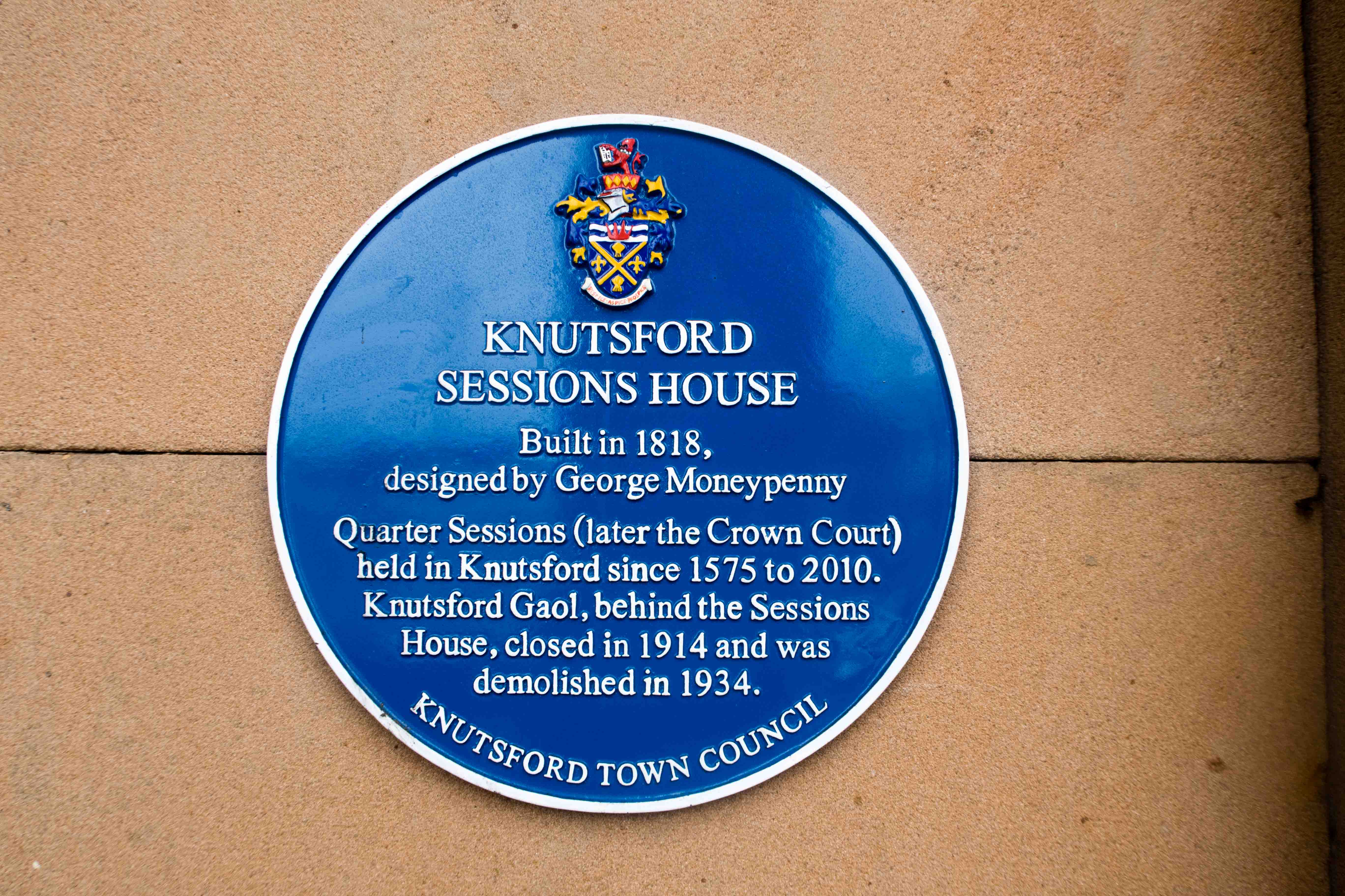 Sign for the Knutsford Sessions House 1818