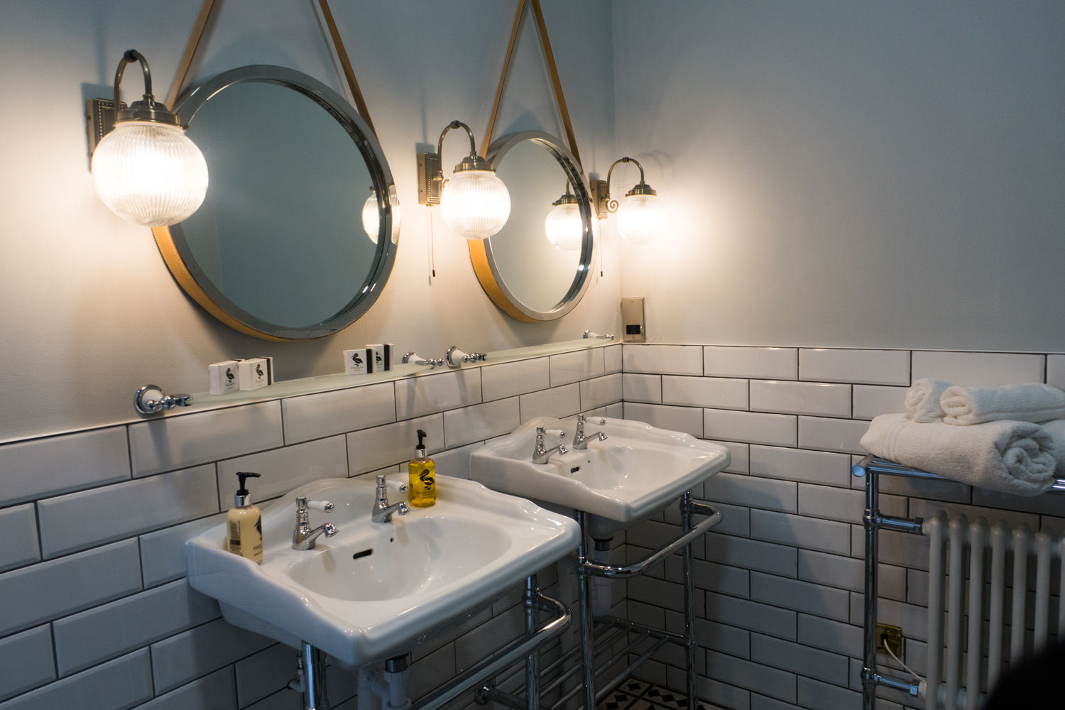 Twin sinks in the Superior Bridal Suite
