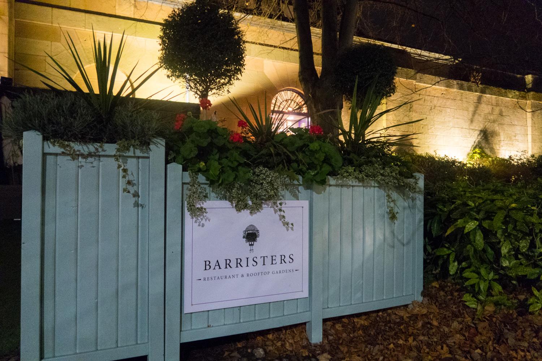 Barrister's restaurant sign